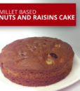 Millet nuts and raisins cake